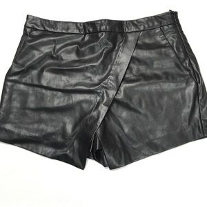 Gypsy Warrior Asymmetrical Faux Leather Skort sz S